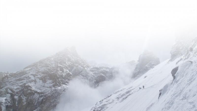 Nanga Parbat Couloir (von C1 zum Eagle Nest, C 2) im Winter ©  PMA-Polish Mountaineering Association archive.